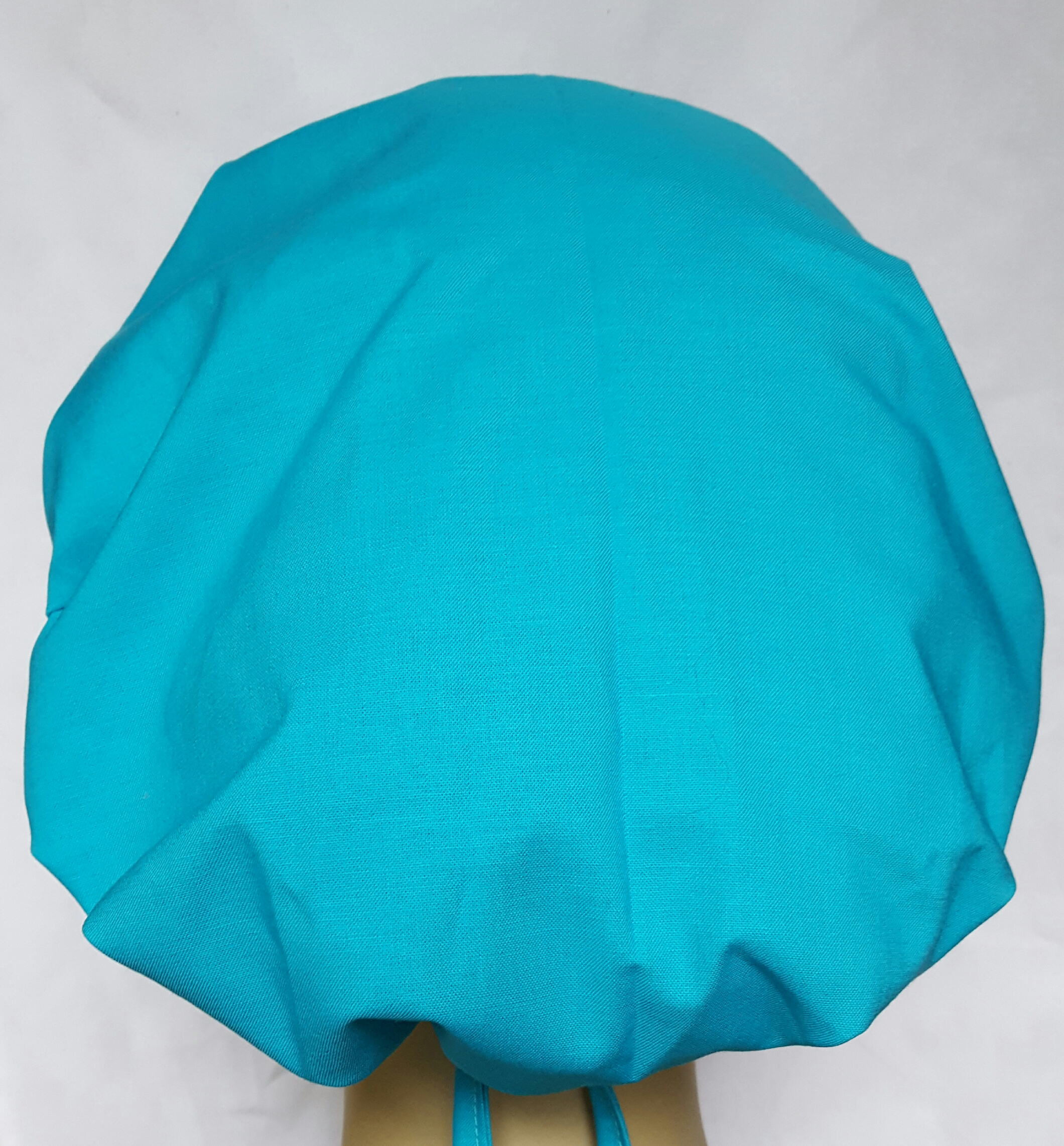 Surgical Scrub Hat Banded Bouffant Solid Color Caribbean Blue